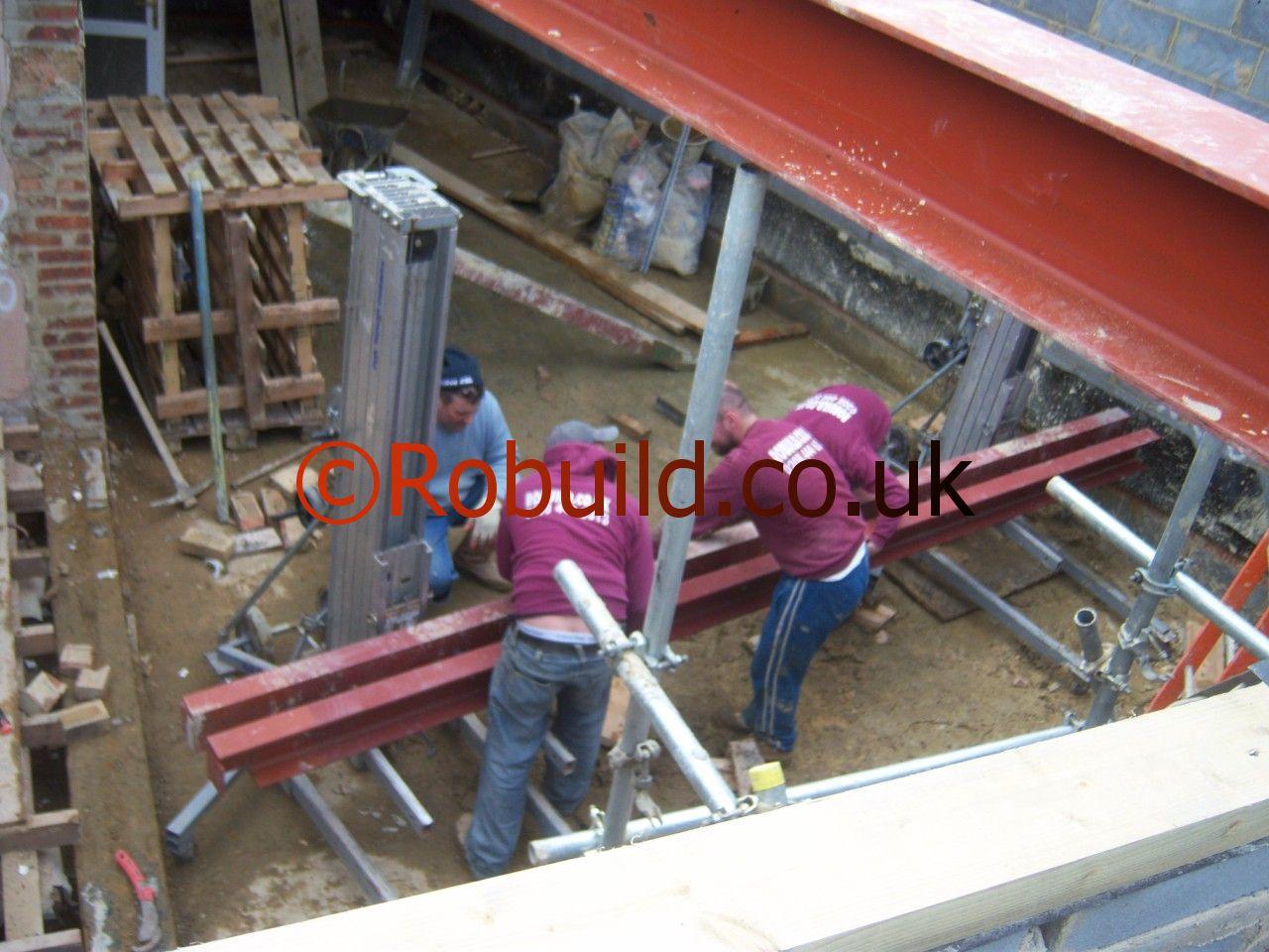 lifting metal beams