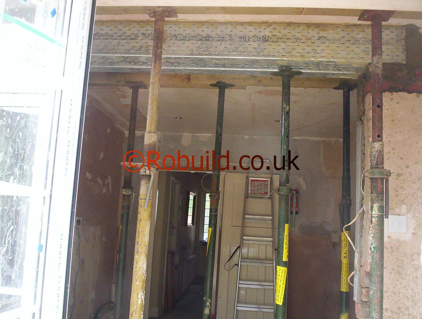 metal lintel wall opening