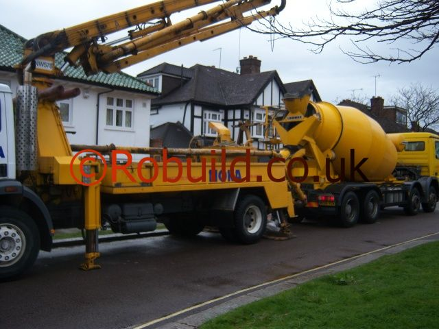 concrete pump foundation