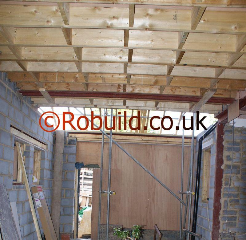 rsj joist floor house extension