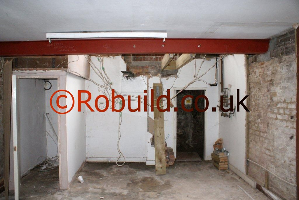 metal RSJ beam lintel