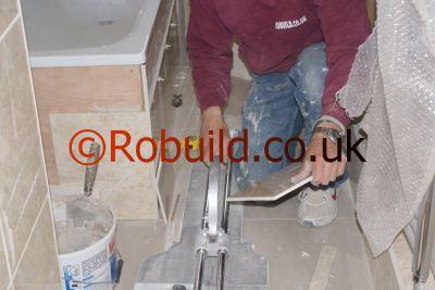 tiler bathroom robuild london