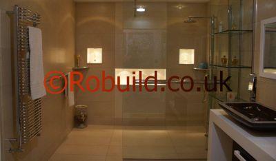 bathroom london shower wet floor shower
