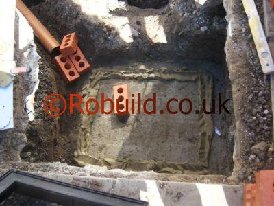 base for new manhole