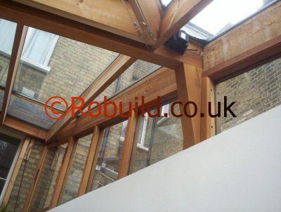 hardwood conservatory roof