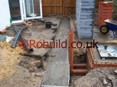 drains kitchen extension manhole