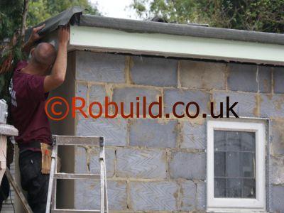 Garden Office Flat Roof Plastic Fascia