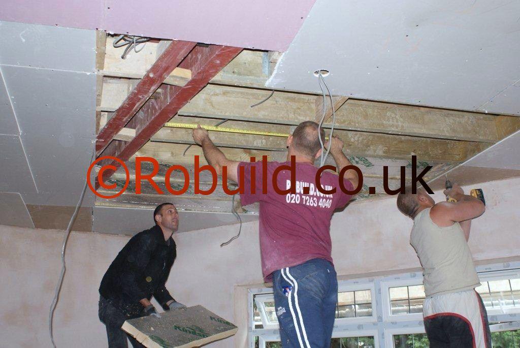 plasterboarding ceilings