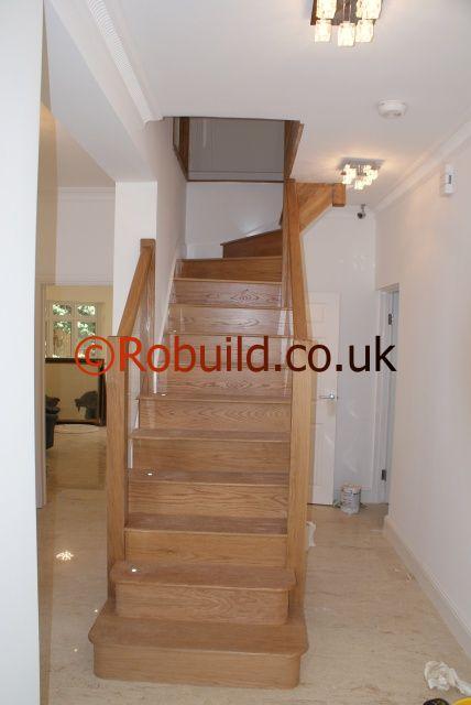 hardwood modern staircase