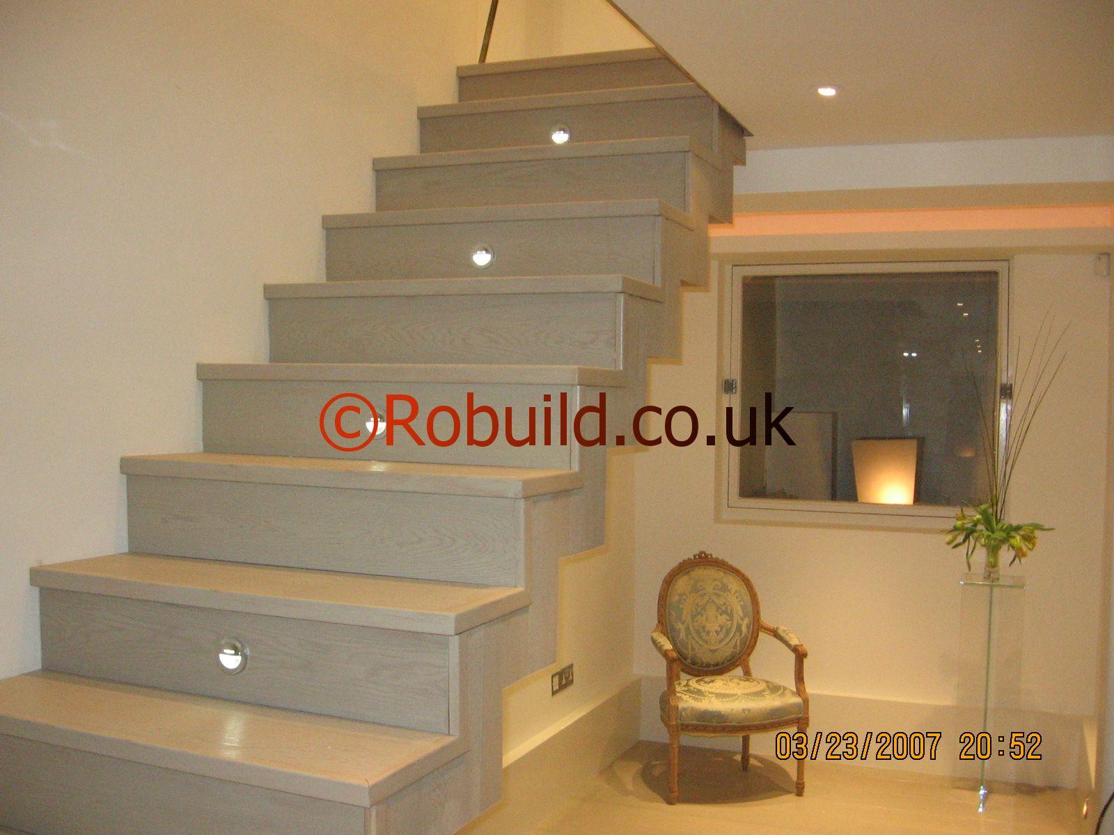 modern staircase hardwood