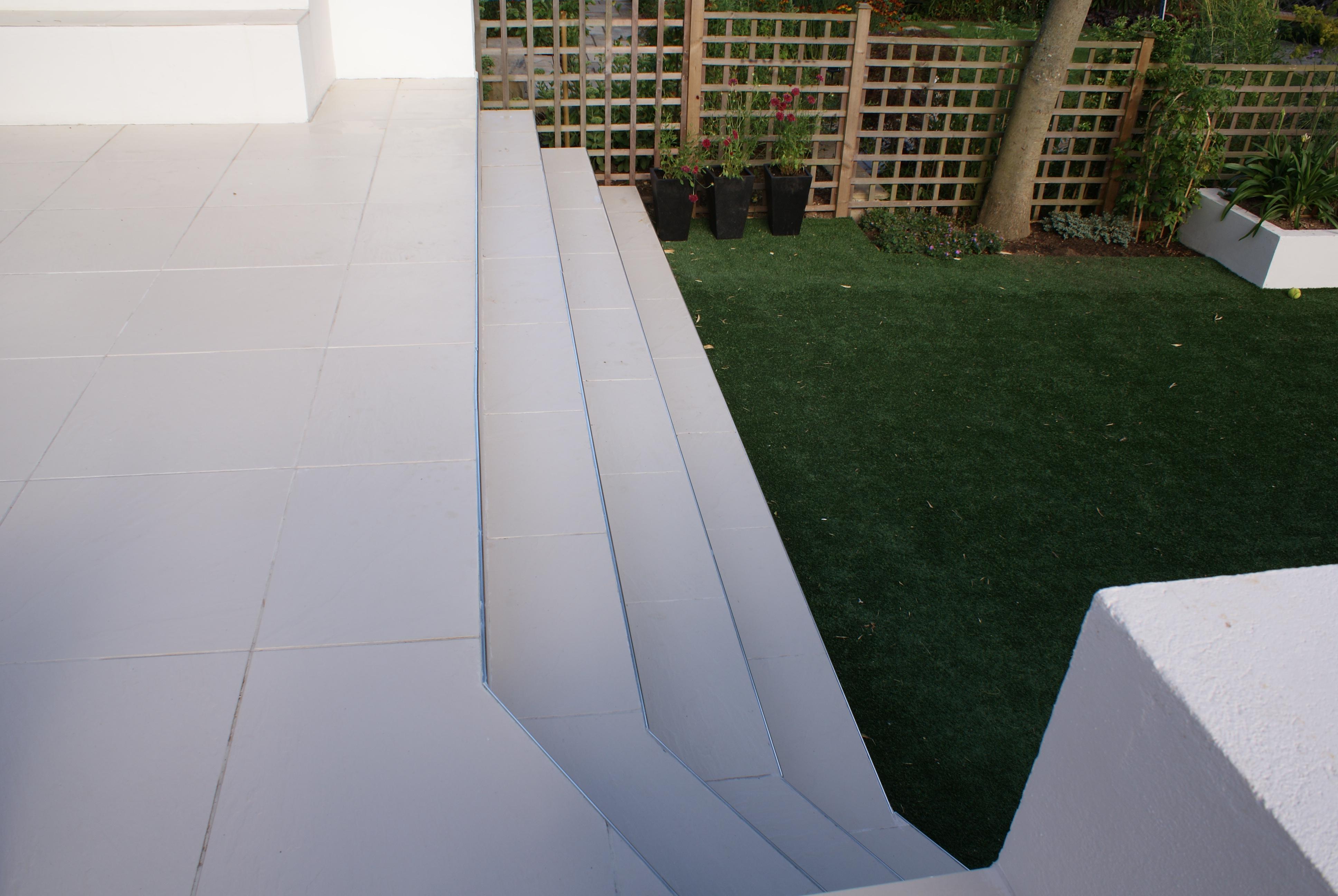 Patios steps garden